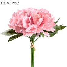 1 Bunch Silk Artificial Flower Pink Peony Garden Home Wedding Public places Party Celebrations Festival Decor