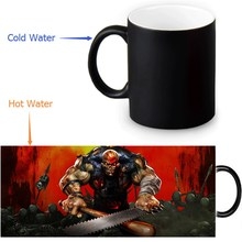 Five Finger Death Punch Colour Change Morphing Mug Heat Sensitive Magic Morph Coffee Mugs 350ml/12oz