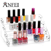 4 layers Nail Polish Box Jewelry Make Up Organizer Rack Acrylic Display Case Stand Holder Beauty Tools Factory Promotion Price(China)