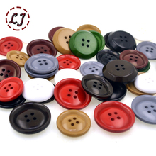 New 10pcs/lot colorful big size four holes resin button for overcoat Windbreaker sweater tweed coat sewing buttons acceeeories(China)