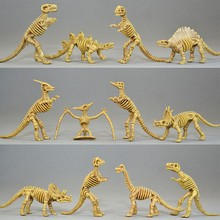 12pcs/lot Novelty The Good Dinosaur Fossil Skull Skeleton Plastic Dragon Animal World Toys Dinosaur Model Best Gift For Children