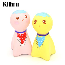 2017 1Pcs Cartoon Kiibru Jumbo Kawaii Cute Japan Sunny Doll Squishy Slow Rising Scented Charm Phone Strap Bread Cake Kid Toys