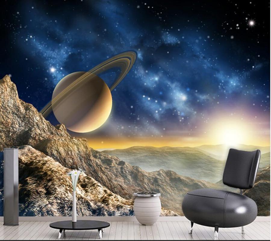 Custom home decoration wallpaper, starry planet murals for the living room bedroom sofa ceiling wallpaper papel de parede 3D<br>