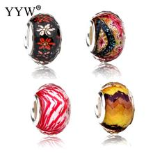 Resin European Beads different designs for choice & brass single core without troll & faceted 9x14mm Hole:Approx 5mm 10PCs/Lot(China)