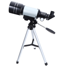 2017 New Space Astronomical Telescope 1pc F30070M Monocular Professional with Aluminum Tripod Barlow Lens Eyepiece Moon Filter(China)
