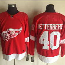 Mens #40 Henrik Zetterberg red Home 100% Embroidery Hockey Jerseys High Quality free shipping(China)