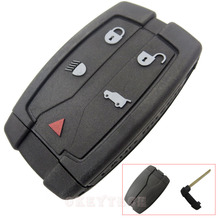 EKIY 5 Button Remote Key Shell Case Fit For Land Rover Freelander 2 3 Replacement Car Key FOB Smart Key with blade Free Shipping