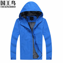 Outdoor Jackets Spring and Autumn Men's Outdoor Jackets Wind and waterproof Hooded Mountain climbing camping hunting clothes