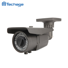 Techage 2.8-12mm Varifocal Lens CCTV 48V POE IP Camera 2.0MP 4.0MP IR Outdoor Waterproof ONVIF P2P Security Surveillance Camera