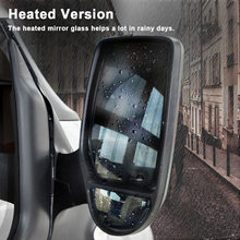 Wide Angle Wing Door Mirror Car Right  Drive Side Heated Mirror Glass for Ford Transit 2000-2013