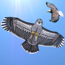 Free shipping high quality 1.8m eagle kite flying higher with reel line owl kite animal kites wholesale bird toy parts(China)