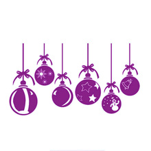 Best Christmas Baubles For Shop Window & Wall Decorations Stickers Decor Art Decals Mural Decor Diy Deco Removable Stickers Sm(China)