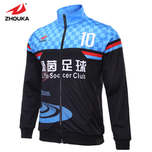 Custom Multicolor tracksuit soft Men football jacket free shipping