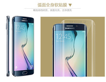 Hot Marketing 2016 Fashion New Clear Curved Film Screen Protector for Samsung Galaxy S7 edge S6 edge Plus TPU Soft Flim