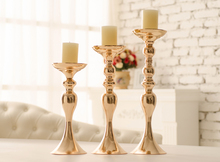 Hotsale 3pcs/set silver and gold Mental wedding candle holder set , peacock candle holder , flower candle holder,candle stick(China)