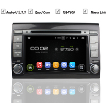 Auto Navigation Car Android 5.1 DVD GPS Player for FIAT Bravo 2007-2013 Radio RDS Bluetooth Mirror Link Map DAB+DVR OBD Wifi