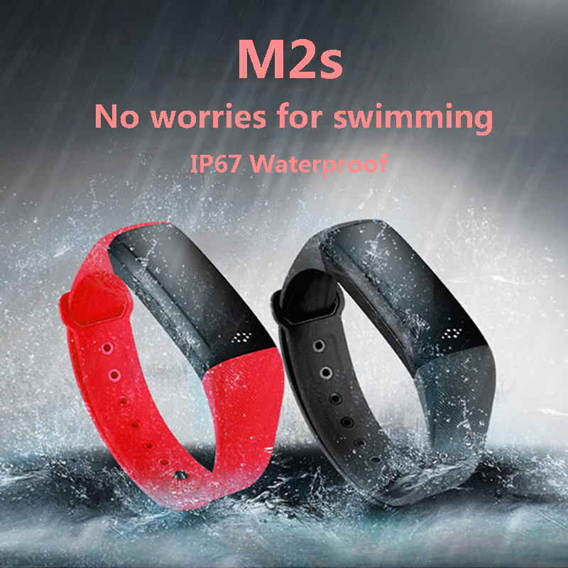 M2S Smart Bracelet heart rate blood pressure bracelet blood oxygen Smart band Android IOS Watch Phone PK Mi Band 2 Smartband