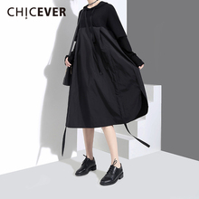 Buy CHICEVER 2018 Spring Hooded Black Women Dress Female irregular Loose Pullovers Women's Dresses big Size Clothes Fashion for $21.25 in AliExpress store