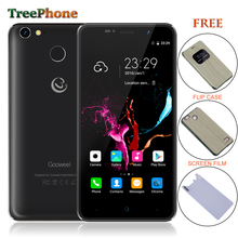 Free Flip Case Gooweel M15 4G Smartphone Fingerprint MTK6737 Quad core 5.0 inch IPS Android 6.0 mobile phone 2GB 16GB Cell phone(China)