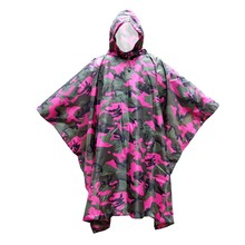 3 in 1 Multifunctional Raincoat Outdoor Travel Rain Poncho Backpack Quality Rain Cover Waterproof Tent Awning Camping Hiking(China)