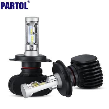 S1 Partol H4 9003 HB2 H7 H11 CSP LED Phare De Voiture Kit 50 W 8000LM Unique Salut Lo Faisceau CREE Puces Projecteur Brouillard Ampoules 12 V 24 V