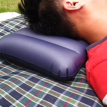 1 pcs Inflatable Camping Pillow Dark Blue Large Inflatable Camping Pillow Travel Flocking Outdoor