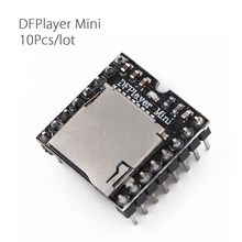 10Pcs/lot DFPlayer Mini MP3 Player Module MP3 Voice Module for DIY DIY Supporting TF Card and USB Disk Free Shipping