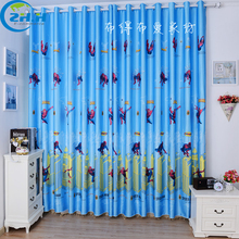 1panel New American Style Spider-Man Printed Curtain Children curtains Bed Room Window Screening Sheer Decorating Blackout Cloth
