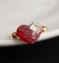 Lovely Cute Delicate Peach Heart Jelly Love Ring Influx  women 4RD131