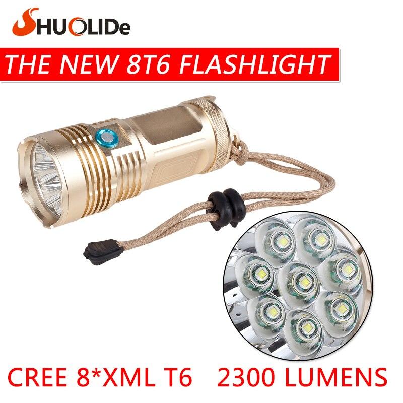 New 8T6 glare flashlight 18650  linternas  portable lamp Outdoor lighting Practical Flashlight lanterna led flashlight<br><br>Aliexpress