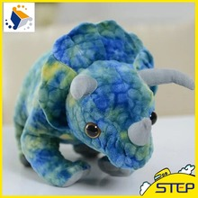 60cm New Jurassic World Dinosaur Triceratops Plush Toy 3D Simulation Giant Dinosaure Stuffed Animal Toys Baby Toys Gifts(China)