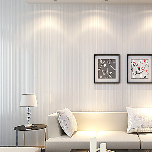 Modern Stripes White Wallpapers Embossed Wallpapers Decor Environmental For Living Room Sofa TV Backdrop Papel De Parede  1000cm<br><br>Aliexpress