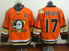 2017 new Hockey Jersey ICE Hockey Jersey Mighty Ducks Movie Jersey Stitched Sewn Purple  orange #17 kesler fastly shipping