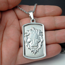 1PC Hot sale Men Necklace Titanium Steel Lion Punk Pendant Necklace Accessories Gift for BF Husband Dropshipping(China)