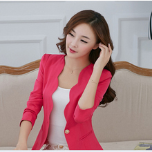 Buy Casual Business Blazer Suit Women One Button Jacket Coat Outwear Blazer Candy Color 2018 Fashion women blazers jackets for $15.53 in AliExpress store