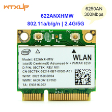 Dual Band 2.4Ghz&5Ghz wifi Wireless Adapter 6250an for Intel Centrino Advance-N 622ANXHMW Mini PCI-E Wi-Fi Network card(China)