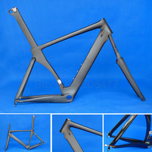 Toray Carbon Fiber Frame Road Bicycle Bike Cycling Frameset Racing 700C Frame fork Seatpost + Seat Plug + BB + Headset 50/54cm(China)
