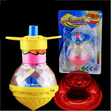 New Funny Kids Flashing Spinning Top LED Dazzling Gyro Peg Top Toys Gift Light Up Flashing Gyro(China)