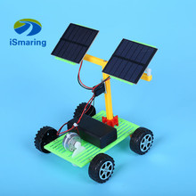 Official iSmaring Primary school science and physics experimental toys DIY science and technology of small solar electric car