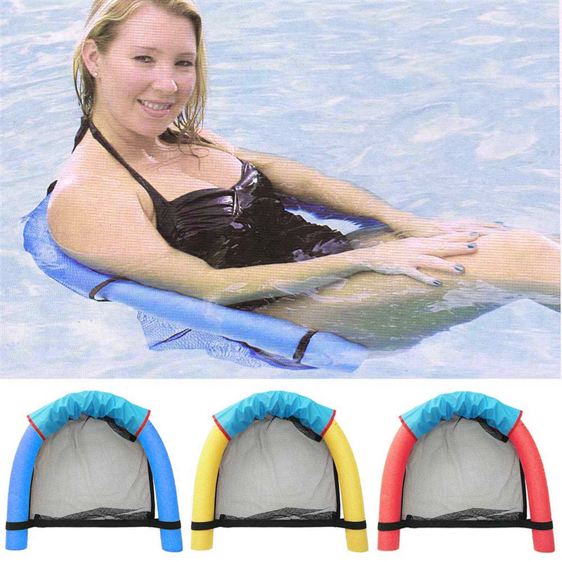 1pc pool noodle floating chair 6.0x150cm Swimming Pool Seats multi colors pool amazing floating bed chair pool noodle chair(China)
