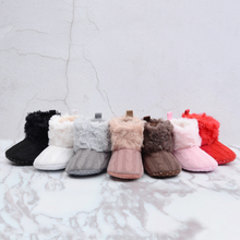 Super Warm Prewalker Boots Toddler Girl Boy Crochet Knit Fleece Booties Wool Winter Snow Crib Shoes 0-18M