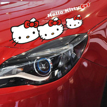 Lovely Hello Kitty  Car Light or car hood Car Stickers Car styling Accessories