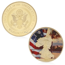 Gold Silver Plated Beautiful US Liberty Commemorative Challenge Commemorative Coin Gift H06