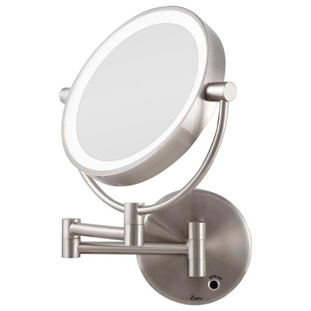 Zadro LEDMW410 LED Lighted Wall Mount Mirror - Satin Nickel
