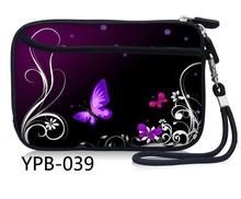 Purple Butterfly Portable Zipper External 2.5 inch HDD Bag Case Pouch for Protection Standard 2.5'' GPS Hard Disk Drive Device(China)