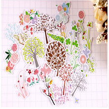 33pcs Creative kawaii self-made freshness natural scenery tree flowers plant decorative scrapbooking stickers /DIY craft P