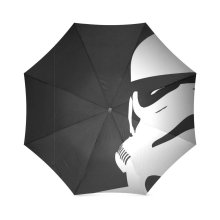 Star Wars Stormtroopers Black and White Pattern Custom Foldable Rain Umbrella Wind Resistant Windproof Floding Travel Umbrella
