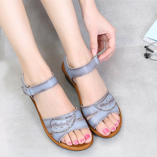 Genuine Leather Platform Gladiator Sandals Summer Flip Flops 2017 Creepers Shoes Woman Wedges Sandals Flats Size 35-41<br><br>Aliexpress