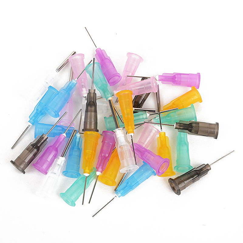 35pcs/lot Dispensing Needles Tips for Liquid Dispenser Syringe 16GA, 18GA, 21GA, 22GA, 23GA, 24GA, 25GA Gauge