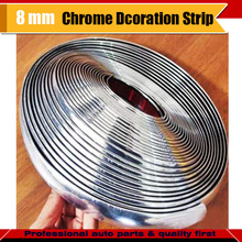 8MM x 600CM Car Motorcycle Interior & Exterior Doors Tailgate Grilles Moulding Chrome Decorative Strip Trim Free Postage !(China)
